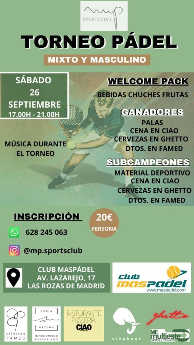 Este sábado 26 de septiembre llega el séptimo torneo de MP Sports Club