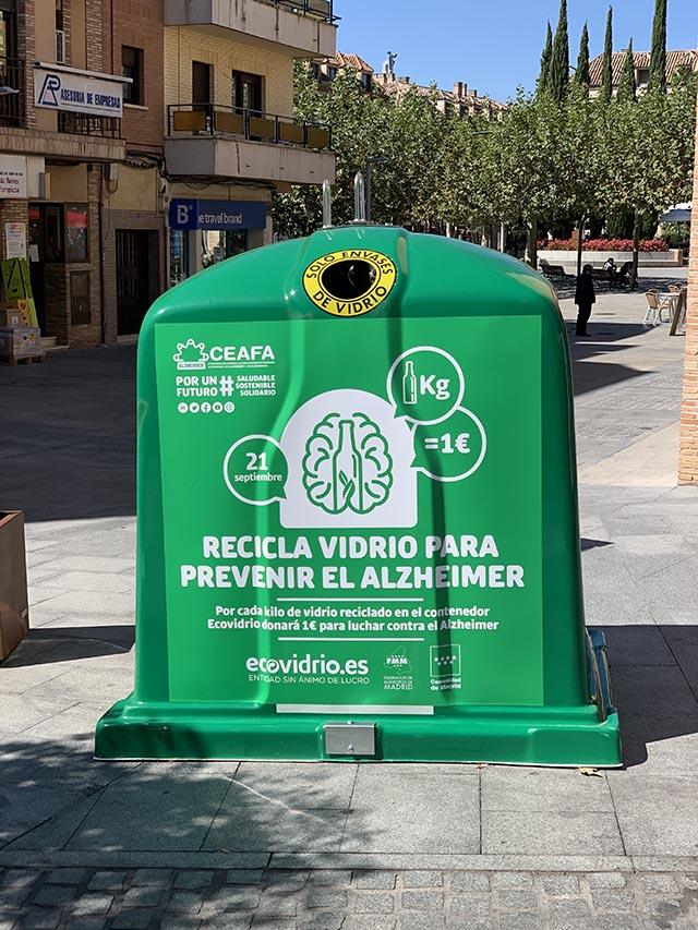 Las Rozas se suma a la campaña de Ecovidrio de reciclaje a favor de los enfermos de Alzheimer