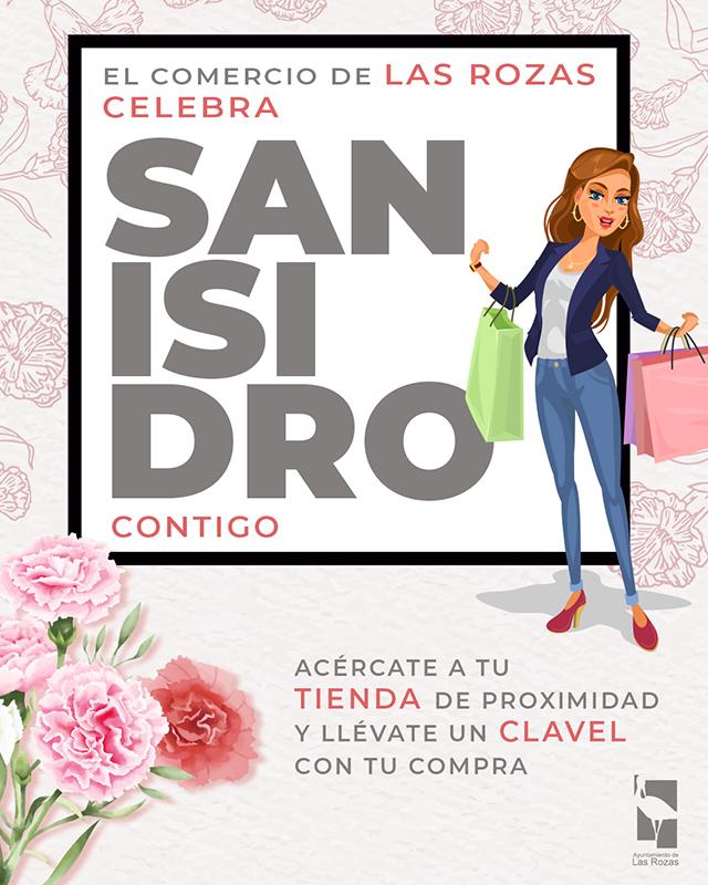 Las Rozas celebra San Isidro regalando claveles a los clientes de los comercios del municipio